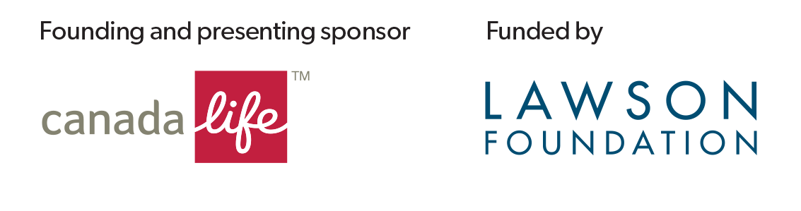 Sponsors and funder banner: Canada Life, Lawson Foundation