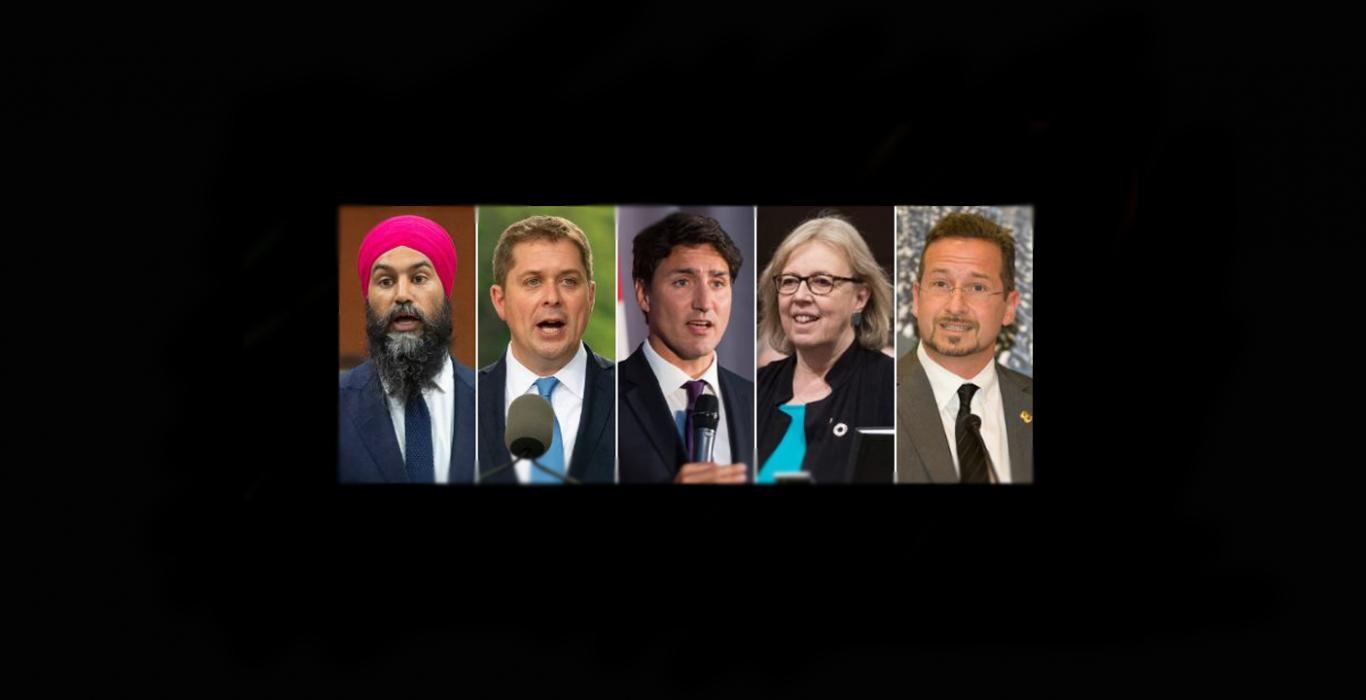 The Five Canadian Party Leaders